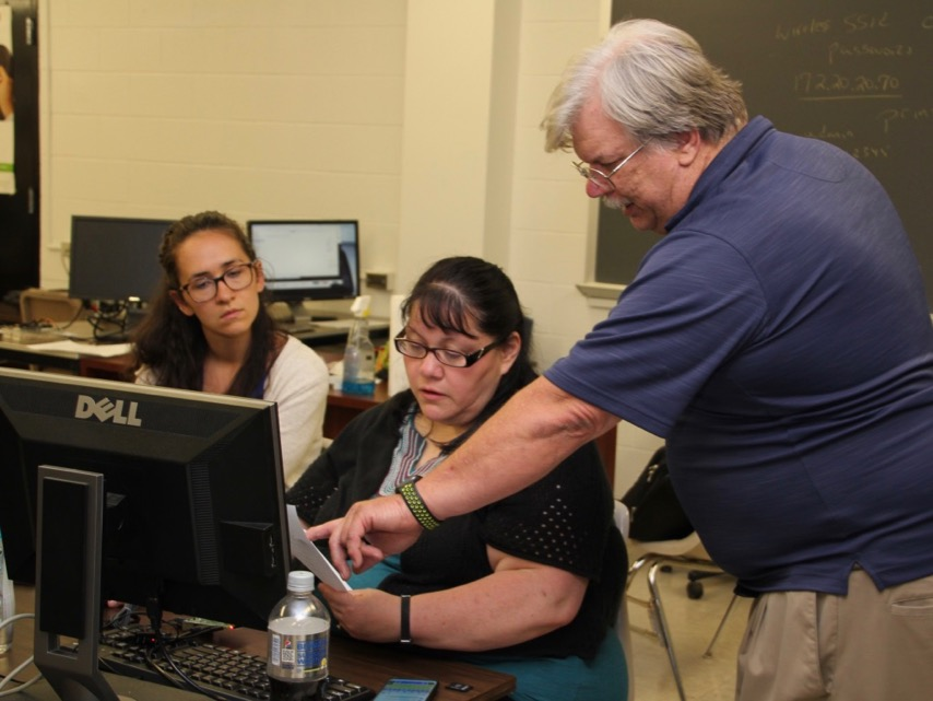 Ed Bigos with teachers for IoT article