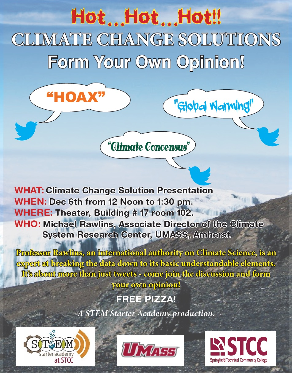 Main flyer for climate change presentation