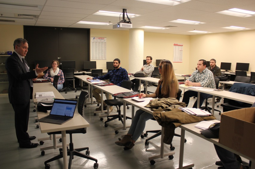 Northeastern instructor teaches class at STCC