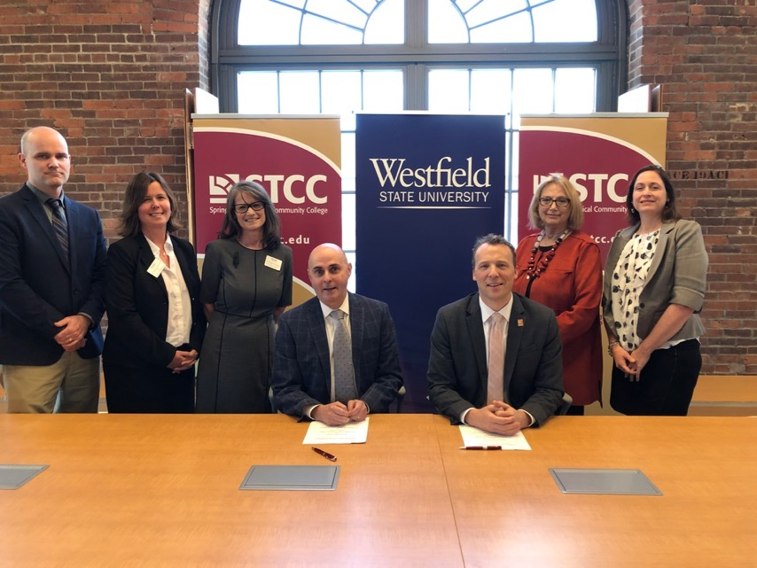 STCC and Westfield State representatives biotech