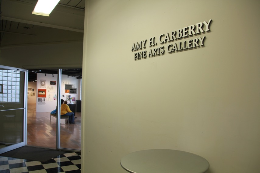 Sign for Amy H. Carberry Fine Arts Gallery
