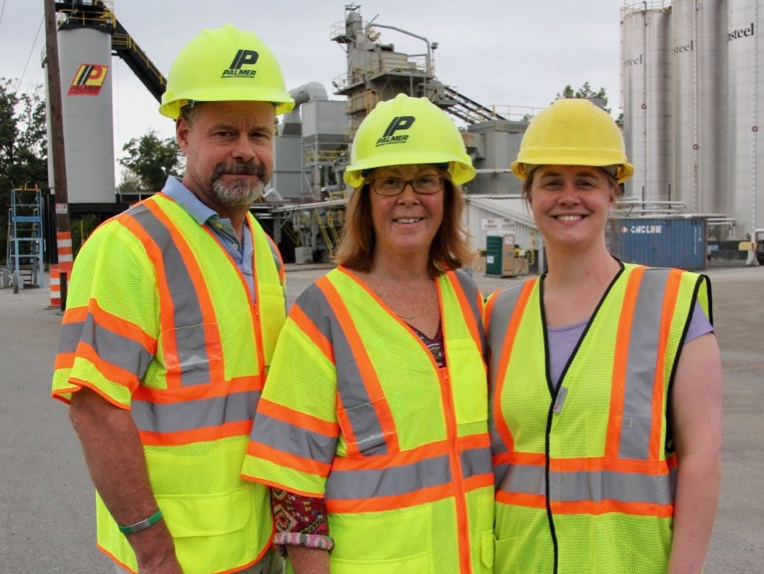 Palmer Paving President and STCC alums in construction safety gear